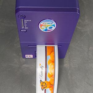 máy in tem nhãn màu kiaro 50